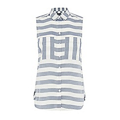 Warehouse - Stripe sleeveless shirt