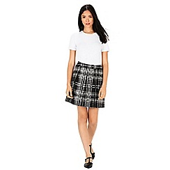 Warehouse - Check pleated skirt