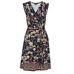Warehouse - Border floral wrap dress