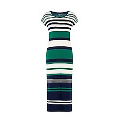 Warehouse - Engineered stripe midi dress