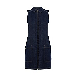 Warehouse - A line zip front dress