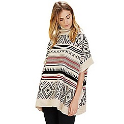 Warehouse - Fairisle poncho