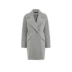 Warehouse - Textured cocoon coat