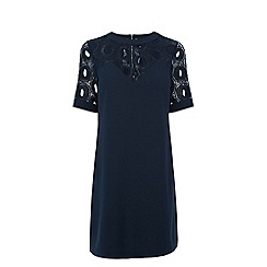 Warehouse - Circle lace yoke dress