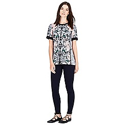 Warehouse - Nouveau print top