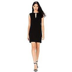 Warehouse - Faux leather trim dress