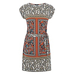 Warehouse - Blocked paisley tunic dress