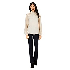 Warehouse - Embroidered high neck top