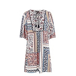 Warehouse - Patchwork print dress