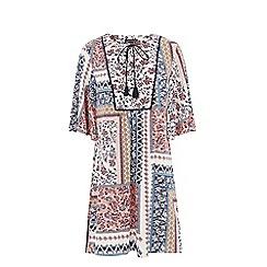 Warehouse - Patchwork print dress