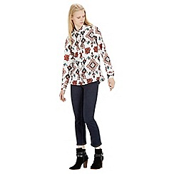 Warehouse - Tapestry print blouse