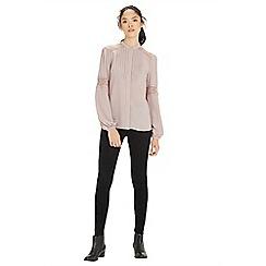 Warehouse - Bib lace insert blouse