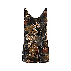 Warehouse - Tropical palm print vest