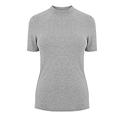 Warehouse - Ribbed high neck top