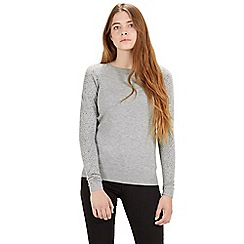 Warehouse - Diamante sleeve jumper
