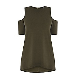 Warehouse - Crepe cut-out shoulder top