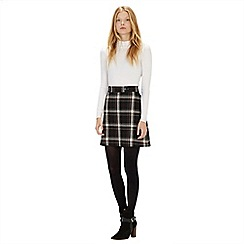 Warehouse - Enlarged check skirt