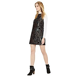 Warehouse - Boucle paisley dress
