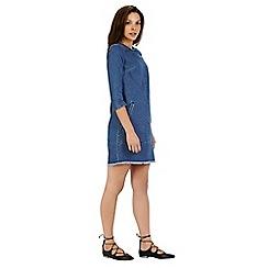 Warehouse - Frayed hem shift dress