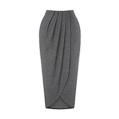 Warehouse - Wrap detail midi skirt