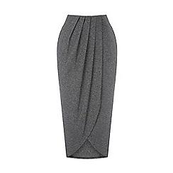 Warehouse - Wrap detail midi skirt