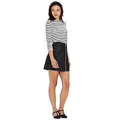 Warehouse - Stripe crw neck 3/4 sleeve top