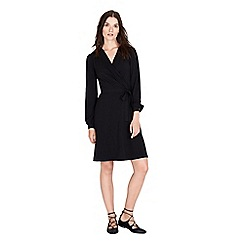 Warehouse - Long sleeve crepe wrap dress