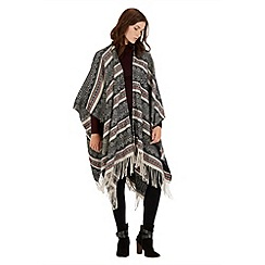 Warehouse - Aztec stripe cape