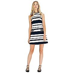 Warehouse - Textured stripe shift dress