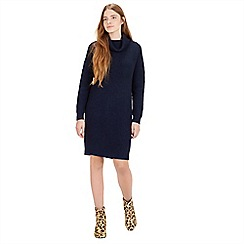 Warehouse - Chunky stitch roll neck dress