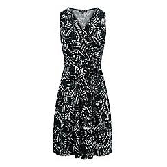 Warehouse - Abstract tribal wrap dress