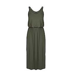 Warehouse - Plait strap midi dress