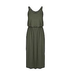 Warehouse - Plait strap midi dress