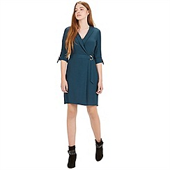 Warehouse - D ring wrap dress