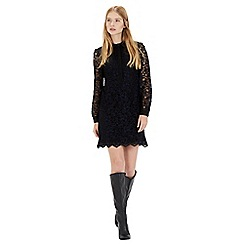 Warehouse - Lace shirt dress