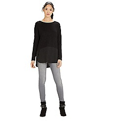 Warehouse - Woven mix long sleeved top