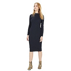 Warehouse - Roll neck ribbed dress