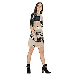 Warehouse - Landscape print dress