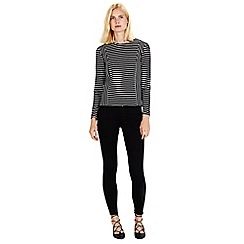 Warehouse - Textured stripe top