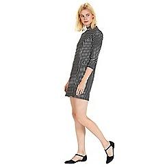 Warehouse - Textured stripe dress