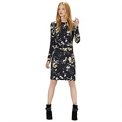 Warehouse - Blossom floral rouched dress