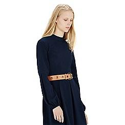 Warehouse - Leather eyelet jeans belt