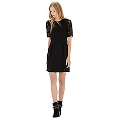 Warehouse - Lace sleeve button front dress