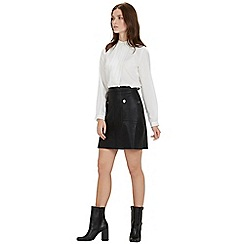 Warehouse - Popper faux leather skirt