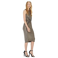 Warehouse - Metallic knot dress