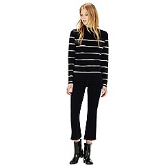 Warehouse - Stripe turtle jumper