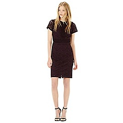 Warehouse - Panel lace short sleeve dress