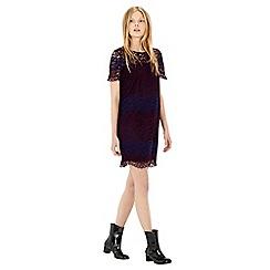 Warehouse - Stripe lace dress
