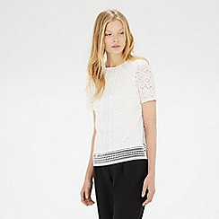 Warehouse - Panelled lace top