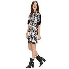Warehouse - Graphic floral shift dress
